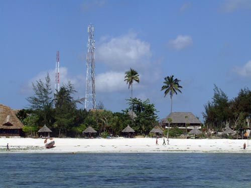 Antennas at the beach of Jambiani